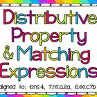 Distributive Property with  Equivalent Expressions and Are