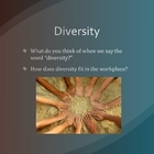 Diversity and Disability Presentation