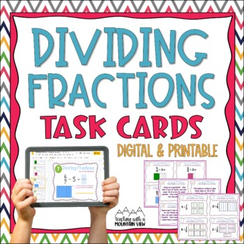 Dividing Fractions Task Cards {Divide with Visual Models} CCS Differentiated