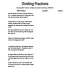 Dividing Fractions Worksheet - Word Problems, Writing & So