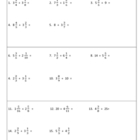 Dividing Fractions and Mixed Numbers Warm-Ups or Worksheet