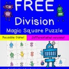 Dividing by 1-12 Magic Square FREEBIE