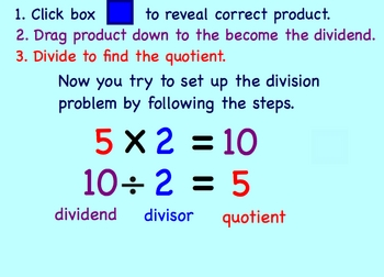 Dividing by 2's Math Smartboard Lesson