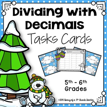 Dividing with Decimals Task Cards
