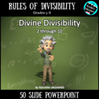 Divine Divisibility - PowerPoint Lesson and Notes