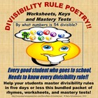 Divisibility Rule Poetry - Worksheets, Keys, and Mastery Tests