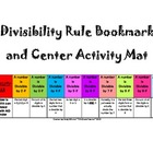 Divisibility Rules Bookmark & Math Center Can be Used For