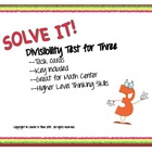 Divisibility Rules Math Task Cards Set Four Using the Rule