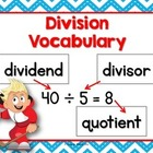 Division Anchor Chart (vocabulary)
