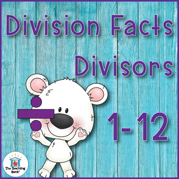 Division Basic Facts 1-10's Practice Sheet