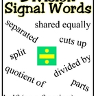 Division Clue Words Poster