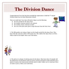 Division Dance Activity Real-World Problems Common Core