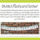 Division Flashcard Banner for Classroom Decoration