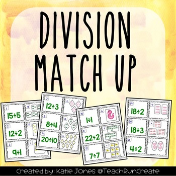 Division Intro Matching Game {Freebie!}