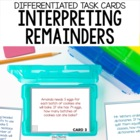 Division Task Cards - Interpreting Remainders