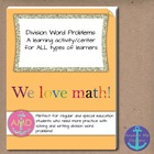 Division Word Problems 1 & 2 Bundle 3rd-4th Regular/Specia
