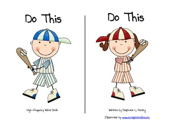 """Do This"" High Frequency Word Book and Writing Prompt"