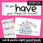 "Interactive Sight Word Reader ""Do You Have your Things for"