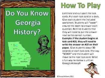 "Do You Know Georgia History?  ""SCOOT"""