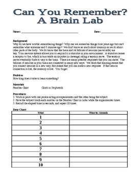 Do You Remember? A Brain Lab