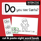 """Do You See Santa?"" Interactive Sight Word Reader"
