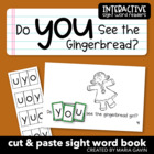 """Do You See the Gingerbread?"" Interactive Sight Word Reader"