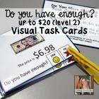 Do you have enough money? Level 2 - Money Math Task Cards