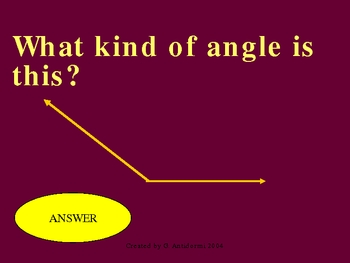 Do you know it? Lines and Angles - Powerpoint Game