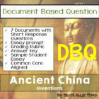 Document Based Question (DBQ) Ancient China-Common Core St