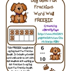 Dog Gone Fun Fractions - Word Wall Freebie