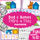 Dog and Bones - Game Activity Math Center - Number Identification