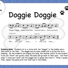 Doggie Doggie- Beat, word rhythm, fun game! Kodaly FREE