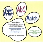 Dogs and Paws Alphabet Center