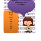 Dolch Farm Word Work - cut out word search to practice dol
