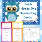 Dolch Grade One Handwriting Cards Center with Record Sheet