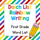 Dolch List Rainbow Writing: 1st Grade Words