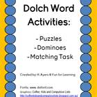 Dolch Nouns Manipulative Activities 2.0