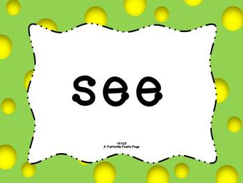 Dolch Pre-Primer Sight Word PowerPoint-Bold Design