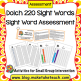 Dolch Sight Word Assessment and Progress Monitoring Materials