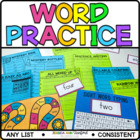 Dolch Sight Word Flash Cards and Games Pre-Primer through