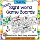 Dolch Sight Word Game Boards