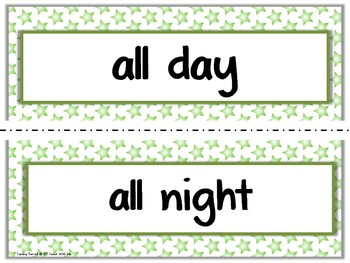 Dolch Sight Word Phrase List: Creating Sentences