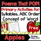 Apple Freebie: Dolch Sight Word Poetry Pack
