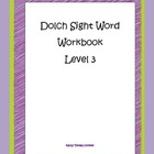 Dolch Sight Word Workbook Level 3