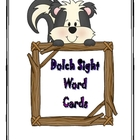 Dolch Sight Word flash cards/assessment sheets