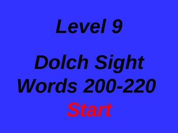 Dolch Sight Words 201-220 PowerPoint Level 9