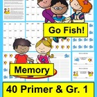 Dolch Sight Words Go Fish & Memory Literacy Center-Sets 5&6
