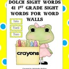 Dolch Sight Words for Word Walls - 1st Grade Sight Words