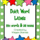 Dolch Word Labels