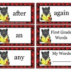 Dolch Words First Grade ( Panther Theme)